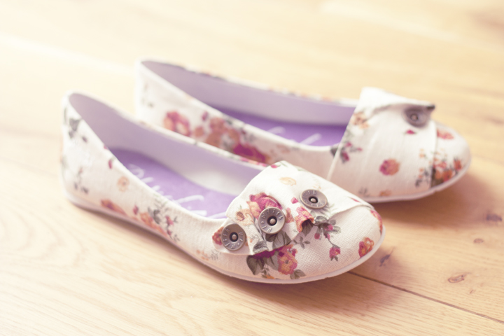 Blowfish Segment Floral Flats