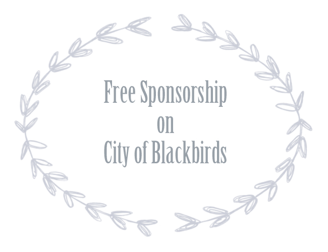 Free Sponsorship on City of Blackbirds