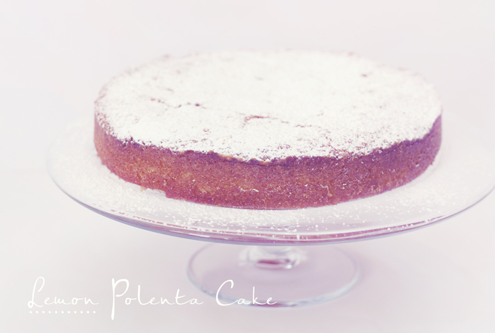 Gluten Free Lemon Polenta Cake | City of Blackbirds Photography